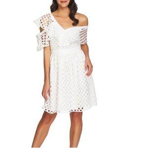 Cece asymmetric white dress